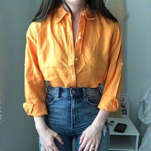 Ralph Lauren Button Down Blouse Work Shirt Top o